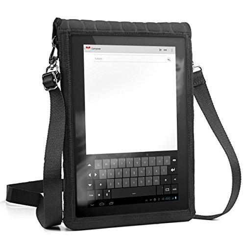 Portable Schutzhülle Tablet Tasche Wasserdicht Portable Messenger Bag Sling und Carry Reisetasche mit Touch-Sensitive Displayschutz von USA Gear - Passend für alle 9
