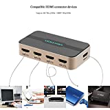 HDMI Switch. Vention HDMI Switcher 5x1 Ports HDMI Switcher 5 Input 1 Output HDMI Splitter Switcher 4K 1080P 3D IR Remote Control for PS3 Xbox 360 Sky Box Freesat Virgin Bluray Player DVD HDTV Projector Camcorder HTPC Laptop