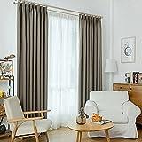 BAILUSX Nordisch Einfarbig Baumwolle und Leinen Schattierung Vorhang, Modern Einfach Schlafzimmer Wohnzimmer Landung Erkerfenster Vorhang,DarkGreen,3.5 * 2.6M