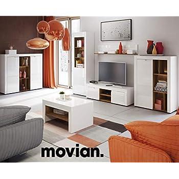 Amazon Brand -Movian 2-Door TV Stand, 150 x 41 x 44 cm, White