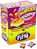 Fast Bubble Gum? Ha la forma di un Burgers e un' imbottitura come ketchup: Das kann nur fini di essere. Il delizioso sapore di gomma da masticare con il popolare tutti frutti è la dolcezza esecuzione del snack salate. Interno ti aspetta una k...