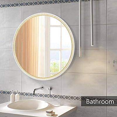 LED Wandspiegel NANAMI Kosmetik-Spiegel LED Spiegel Light Zeitgenössig 40X40cm Badezimmerspiegel Wandspiegel mit Beleuchtung Toiletten Make Up Spiegel Schminkspiegel