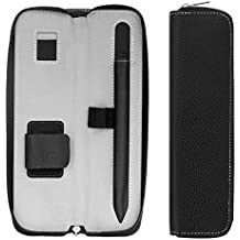 MoKo Apple Pencil Holder Funda - Premium PU Cuero Funda Carrying Bag Sleeve Pouch Cover para Apple iPad Pro Pencil / Pen (con Bolsillo construido y Holder), Negro