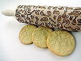 Nudelholz mit MEOW KATZEN für hausgemachtes Gebäck. Präge Teigrolle. Geschenk für Katzenliebhaber