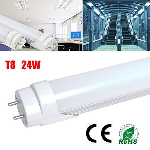 2er THG T8 24W LED Tube Röhre Light Replacement 40W Leuchtstofflampe, Kaltweiß Leuchte Lampe, 120cm, 4ft, 5500K Bar Bulb, Nature White Fluorescent Tube, Energie sparen, 230V, 2000lm (Skylight Tube)