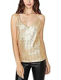 Camisetas Amazon es Mujer Tops Y Ropa Blusas Dorado ZzfEwqnxzT cd7d5632e03