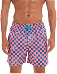 269a000369 Voberry Mens Slim Fit Quick Dry Short Swim Trunks with Mesh Lining  Multi-Code