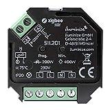 iluminize Zigbee 3.0 Dimm-Aktor Mini, 1 Kanal 230V, max. 200W/400W, Lightlink & Touchlink, per Phasen-AB-schnitt dimmbare 230V Lampen & Leuchten