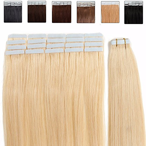 Extensiones cinta adhesiva pelo natural - 45cm - 20piezas