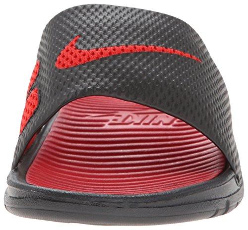 Nike Benassi Solarsoft Slide, Chaussures de Sport Homme, Noir Multicolore - Negro / Rojo (Black / Sport Red-Black-Sprt Red)