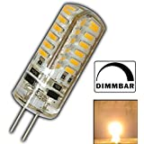 G4 LED 3 Watt warmweiß 12V DC dimmbar mit 48x 3014 SMDs (Epistar) 220 Lumen ~ 15W 330° Stiftsockel Leuchtmittel Lampensockel Spot Halogenersatz Halogen Lampe