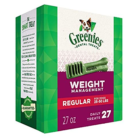 GREENIES Weight Management Dental Chews Regular Dog Treats - Treat TUB-PAK Package 27 oz. 27 Treats