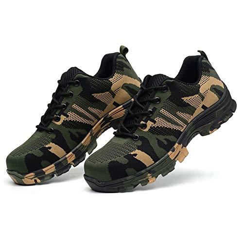 Alexsix Männer unzerstörbare kugelsichere Sicherheitsschuhe Military Work Lightweight Sneakers - Polo-kleid-schuhe