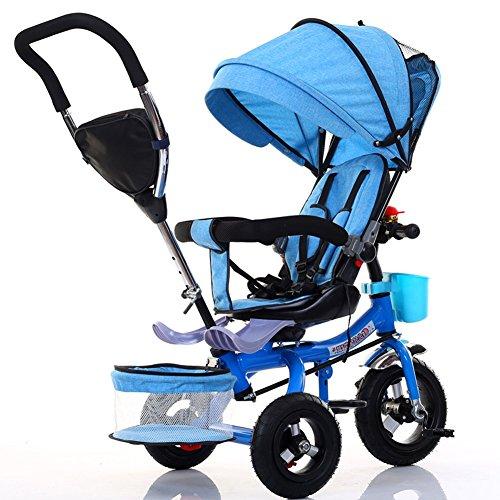 Bici per bambini Guo shop- Passeggino per bicicletta pieghevole per bicicletta pieghevole per bambini da 1 a 6 anni (Colore : Blue)