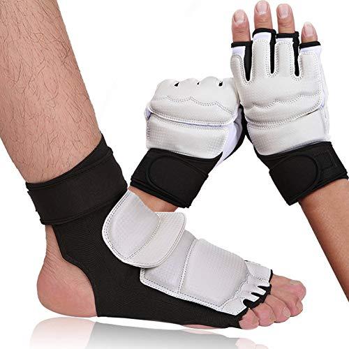 Allsunny Taekwondo Foot Hand Protector Kinder Erwachsene Taekwondo Sparring Karate Training Fuß Hand Handschuhe Guard Protector Fußschutz MNone