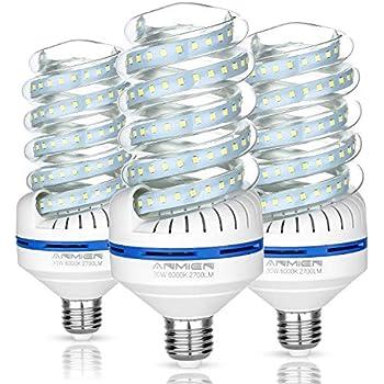 Light Bombillas LED E27, 30 W equivalente a 250 W, Blanca Fria 6000K, 360 Degree Ángulo de haz, Bombillas LED de 3000 lumens, AC 85~265V, 3 - Pack