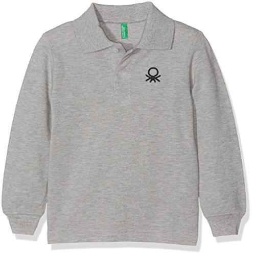 united-colors-of-benetton-3089c3302-polo-para-nias-gris-light-grey-12-18-meses-talla-del-fabricante-
