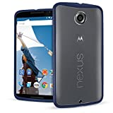 Orzly - Motorola NEXUS 6 - Fusion Gel Hard Case ( COPERTINA / CUSTODIA ) BLU Phone Cover Skin per Google NEXUS 6 SmartPhone ( 2014 MOTOROLA MODEL )