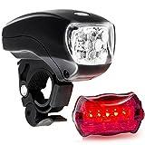 fasloyu Fanale Posteriore per Bici da Bicicletta A 5 Luci Super Luminose a LED a 3 Luci (BLACK)