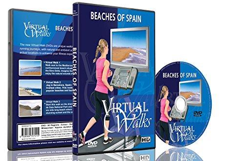 Virtuelle Spaziergänge - Strände von Spanien für Innen-Walking, Laufband und Radfahrtraining