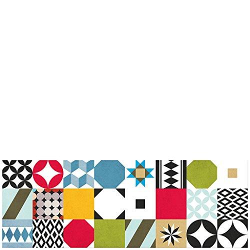 Laroom Alfombra, Vinylic Flooring PVC-Antislip, Multicolor