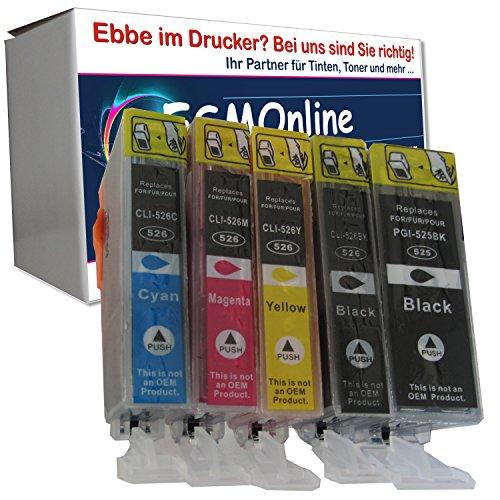 ESMOnline 5 komp. Druckerpatronen als Ersatz für Canon Pixma MG5100 Pixma MG5150 Pixma MG5200 Pixma MG5250 Pixma MG5300 Pixma MG5350 Pixma MG6150 Pixma MG6250 Pixma MG8150 Pixma MG8250 Pixma MX715 Pixma MX885 Pixma MX895 Pixma IP4850 Pixma ip4950