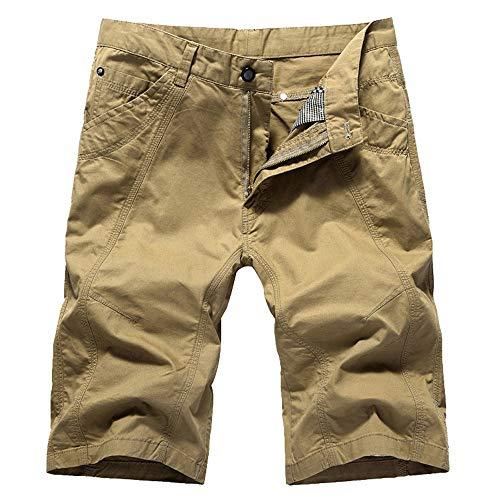 Aiserkly Herren Cargo Shorts Wadenlange Sporthose mit Reißverschlusstasche Kampfhose Kurze BroadclothHosen Off Gore Bike