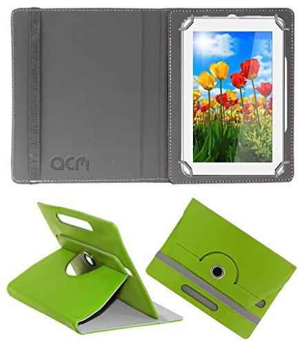 Acm Rotating 360° Leather Flip Case for Tescom 4gb 2g 7 Cover Stand Green  available at amazon for Rs.149