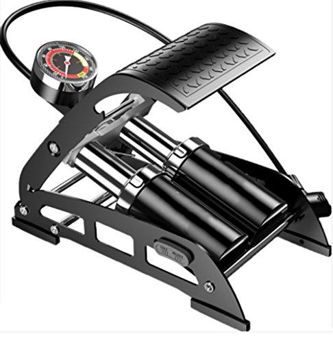 RUIX Hochdruck Standpumpe (Fahrradpumpe, Luftpumpe Für Fahrrad Und Für Luftmatratze) Hochdruck Standpumpe ,Black