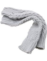 Gants 30cm femmes tricoté bras Mitaines long manche doux hiver chaud gris clair