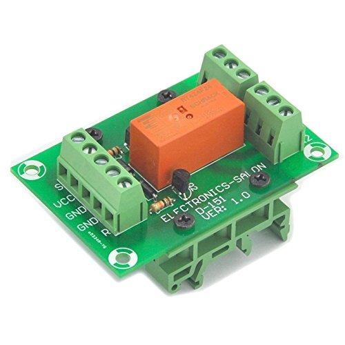 Electronics-Salon Module de relais de puissance DPDT à 8 ampères bistable / à verrouillage, bobine DC24V, avec pieds de rail DIN