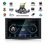 SFONIA 7' Android 8.1 2 Din Autoradio Stereo 1G/16G Navigazione GPS Lettore Multimediale HD 1080P Supporto Touch Screen Microfono BT/USB/AUX/DVR/FM/AM/RDS con Telecamera Posteriore Universale per Auto