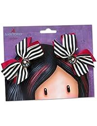 GORJUSS - Barrettes clip cheveux Petits Noeuds Rayures Heart Santoro Gorjuss