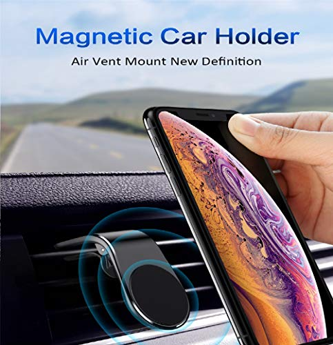 YOUXIU Autotelefonhalter, magnetisches Einhandbedienungs-Tablet für iPhone X / 8/7 / 6s / 6 / SE / 5, Samsung Galaxy S8 / S7 / A5 / Note8, Smartphone und GPS-Gerät,Black - Iphone-halterung Magnetisches