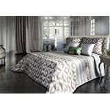 Coton Blanc Jessica–couvre-lit avec 2taies d'oreiller, algodón-poliéster 270x3x300 cm Lin