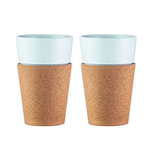 Bodum Bistro Tassen-set 2 Stück, Porzellan, Korkweiß, 9.9 Cm, 2-einheiten