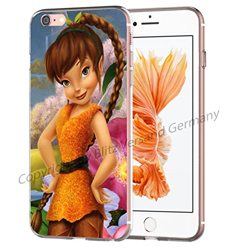 Blitz® TINKERBELL SERIE Schutz Hülle Transparent TPU Cartoon Comic Case iPhone M6 iPhone 6 6s M2