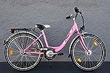 24' Zoll MIFA Biria Mädchen Fahrrad Shimano 3 Gang Nabendynamo pink StVZO