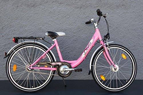 "24"" Zoll MIFA Biria Mädchen Fahrrad Shimano 3 Gang Nabendynamo pink StVZO"