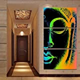 YGKDM Kunst Dekoration Poster Rahmen Wohnzimmer Auf Leinwand 3 Panel Abstrakte Buddha Modulare Bild Wand HD Gedruckt Moderne Malerei 35 cm x 50 cm x 3 stücke Rahmen