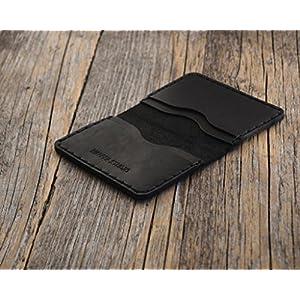 Leder Ausweishülle Personalisierte Geldbörse Portemonnaie, langlebige Aufbewahrung von ID, Kreditkarten und Banknoten, Kartenhülle mit Prägung Gravur, Lederbrieftasche mit Wunschnamen