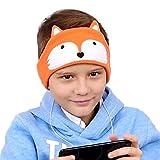 Diadema de auriculares ajustable para niños, de forro polar, muy cómoda Ideal para viajar o para casa.