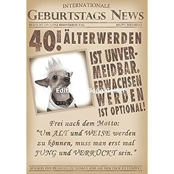 Gluckwunschkarte Zum 40 Geburtstag Alterwerden Ist Unvermeidbar