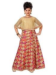 Adiva Girls Party Wear Poncho Dress For Kids� (G_1778_RANI_32)