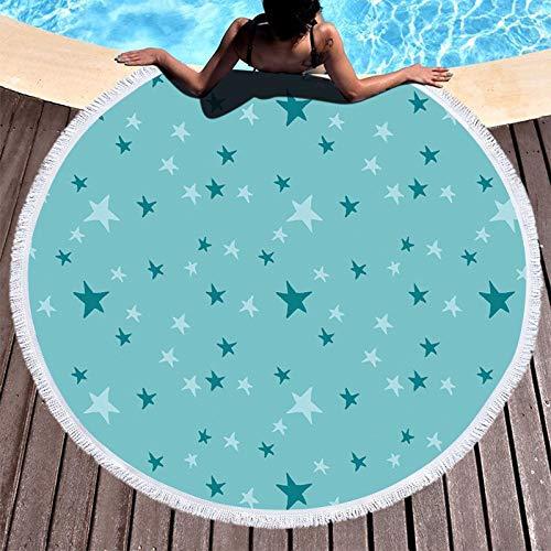 Klein Ball Teppich-Riesige Quaste Strand Decke Tropische Blätter Gedruckt Tuch Picknick Camping Matte Runde Sand Strand Handtuch Pad Schal Rug150CM