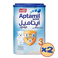 Aptamil Junior 3 Growing Up Milk Tin, 900g, Pack of 2