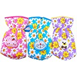 Sharma Clothing-New Born Baby Feeding Bottle Cover Cotton Fabric Apple Print Printed Bottle Cover Baby Bottle Cover Set Feeder Cover New Born Baby Fancy Bottle Cover Feeder Cover Nursing Cover Pack Of 3 Pcs (240 M.l., Pink)