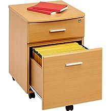 Piranha Trading Cajonera y archivador A4 con Cerradura para despacho y Oficina en casa melamina Efecto