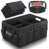 ROYI Car Trunk Organiser, Large Collapsible Sturdy Boot Storage with Bonus Detachable Toolkit, Multi-Compartment Pockets 2-IN-1 Handle Non-Slip Strips for Shopping Camping Stuff Tidy Storage