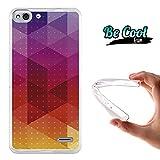Becool® Fun - Funda Gel Flexible para Vodafone Smart Ultra 6 Carcasa TPU fabricada con la mejor Silicona, protege y se adapta a la perfección a tu Smartphone y con nuestro exclusivo diseño Triángulos arcoiris